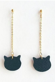 Vinuesa Made Leather Cat Earrings - Product Mini Image