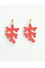 Vinuesa Made Leather Coral Earrings - Product Mini Image