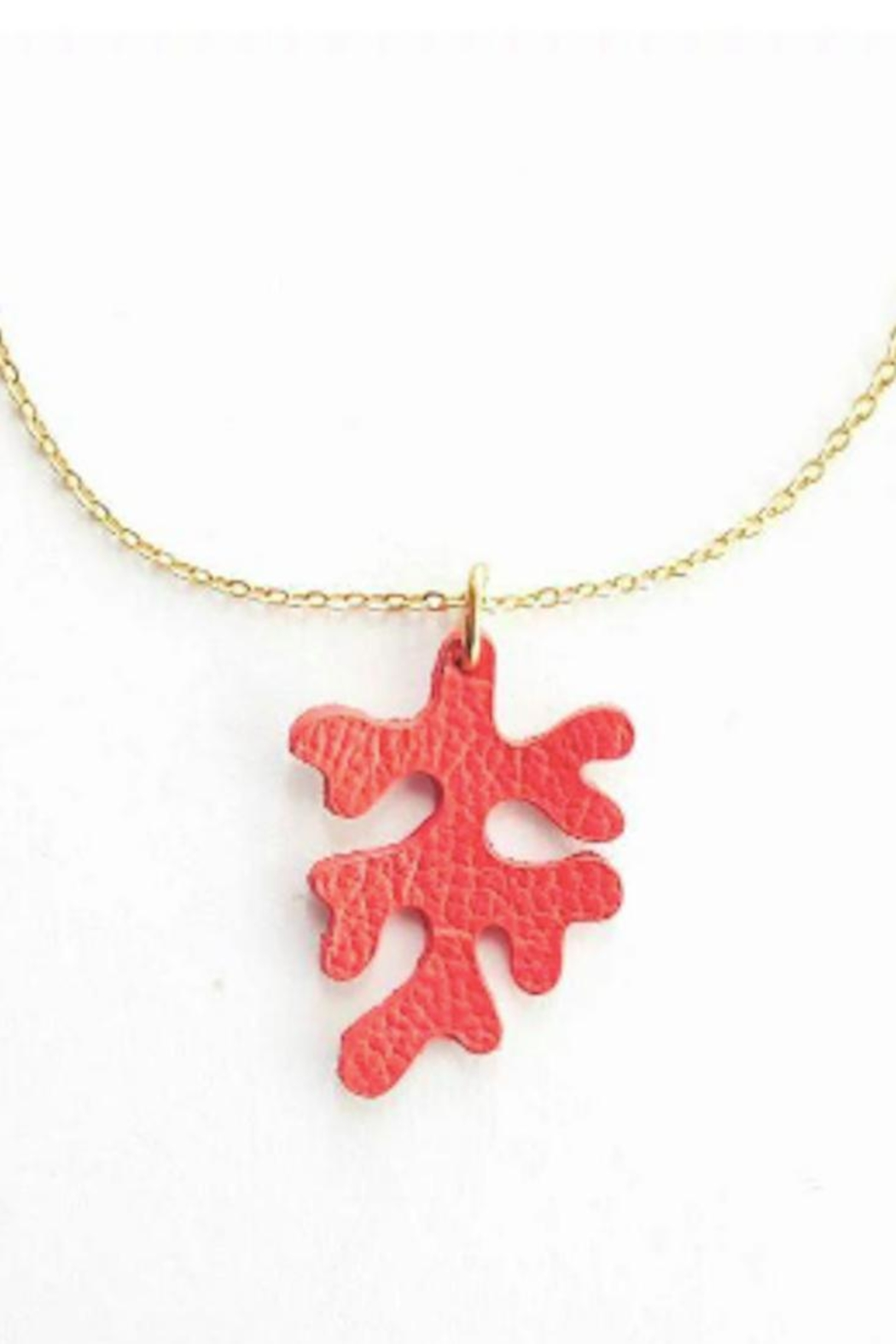 Vinuesa Made Leather Coral Necklace - Main Image