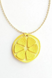 Vinuesa Made Leather Lemon Necklace - Product Mini Image