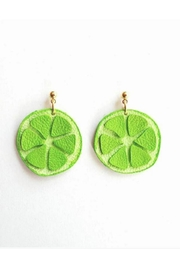 Vinuesa Made Leather Lime Earrings - Product Mini Image