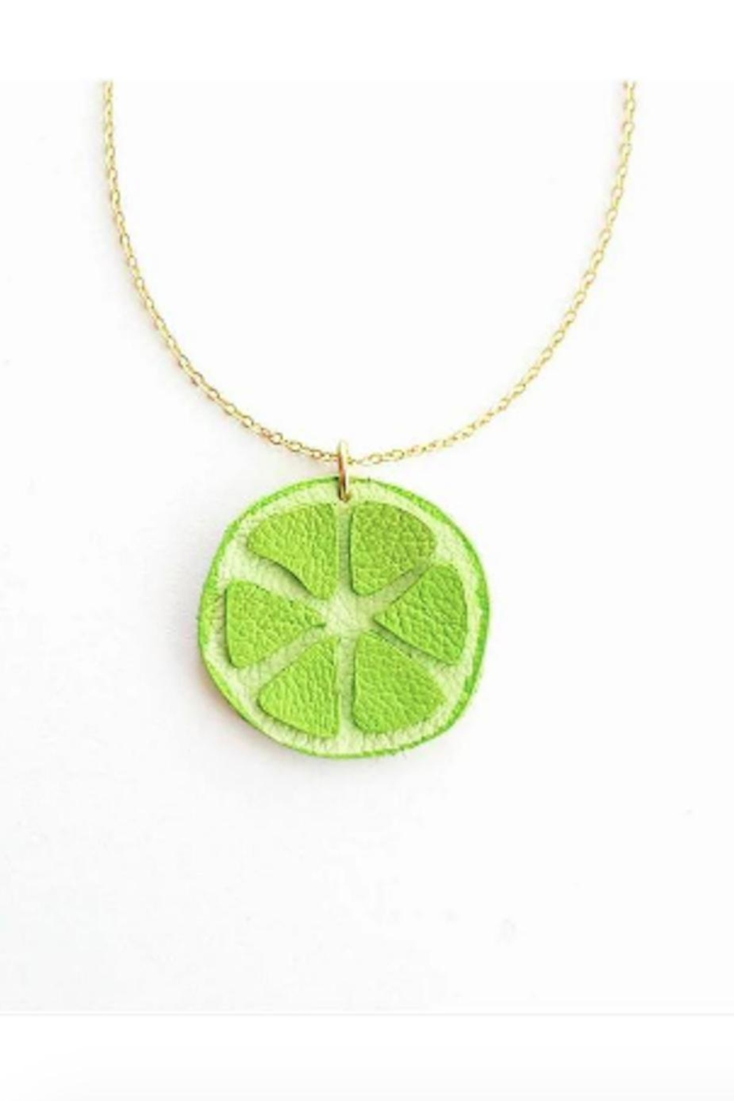 Vinuesa Made Leather Lime Necklace - Main Image