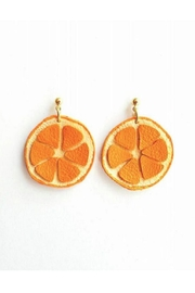 Vinuesa Made Leather Orange Earrings - Product Mini Image