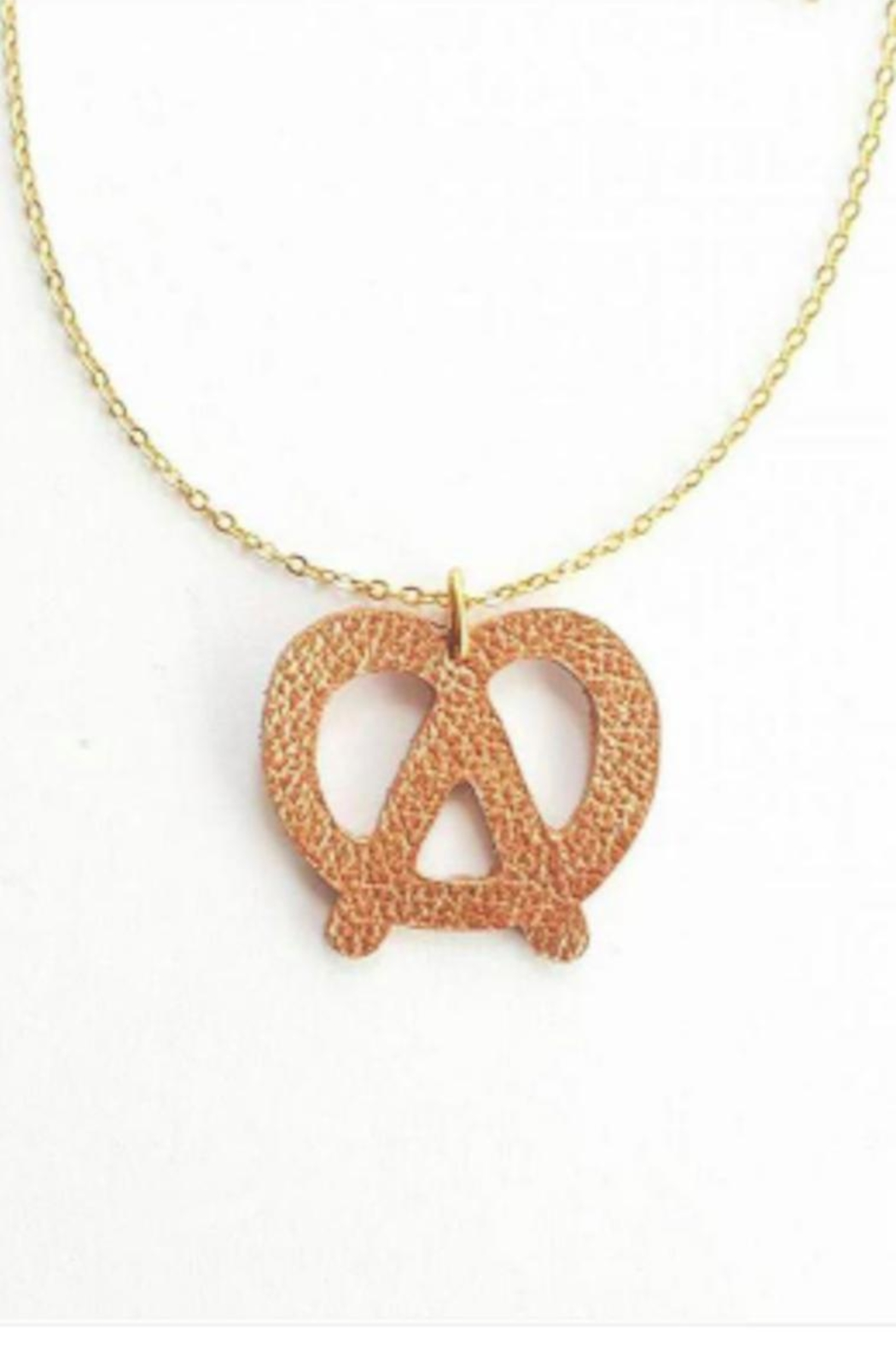 Vinuesa Made Leather Pretzel Necklace - Main Image