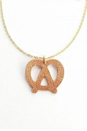 Vinuesa Made Leather Pretzel Necklace - Front cropped