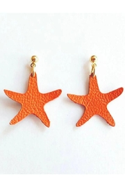 Vinuesa Made Leather Starfish Earrings - Product Mini Image