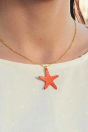Vinuesa Made Leather Starfish Necklace - Front full body