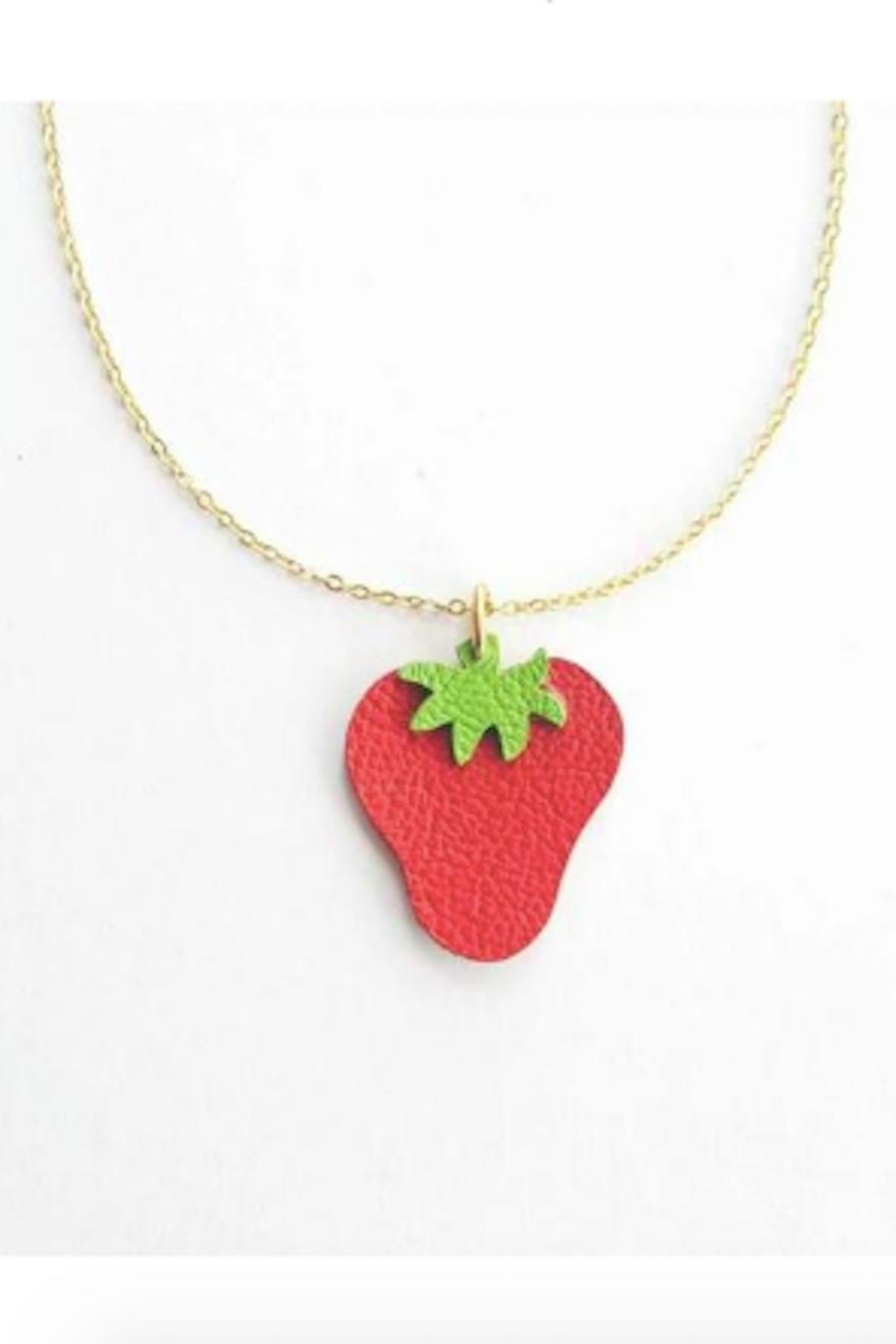 Vinuesa Made Leather Strawberry Necklace - Main Image