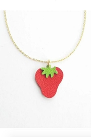 Vinuesa Made Leather Strawberry Necklace - Product Mini Image