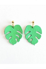 Vinuesa Made Monstera Leaf Earrings - Product Mini Image