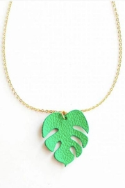 Vinuesa Made Monstera Leaf Necklace - Product Mini Image