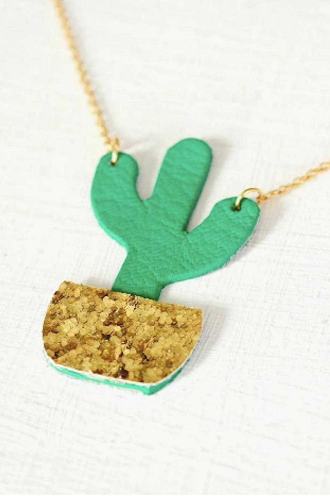 Vinuesa Made Potted Cactus Necklace - Front Full Image