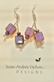 438-1012 Violet Branch Earrings - Product Mini Image