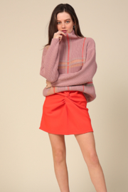 Line & Dot Violet Checkered Sweater - Product Mini Image