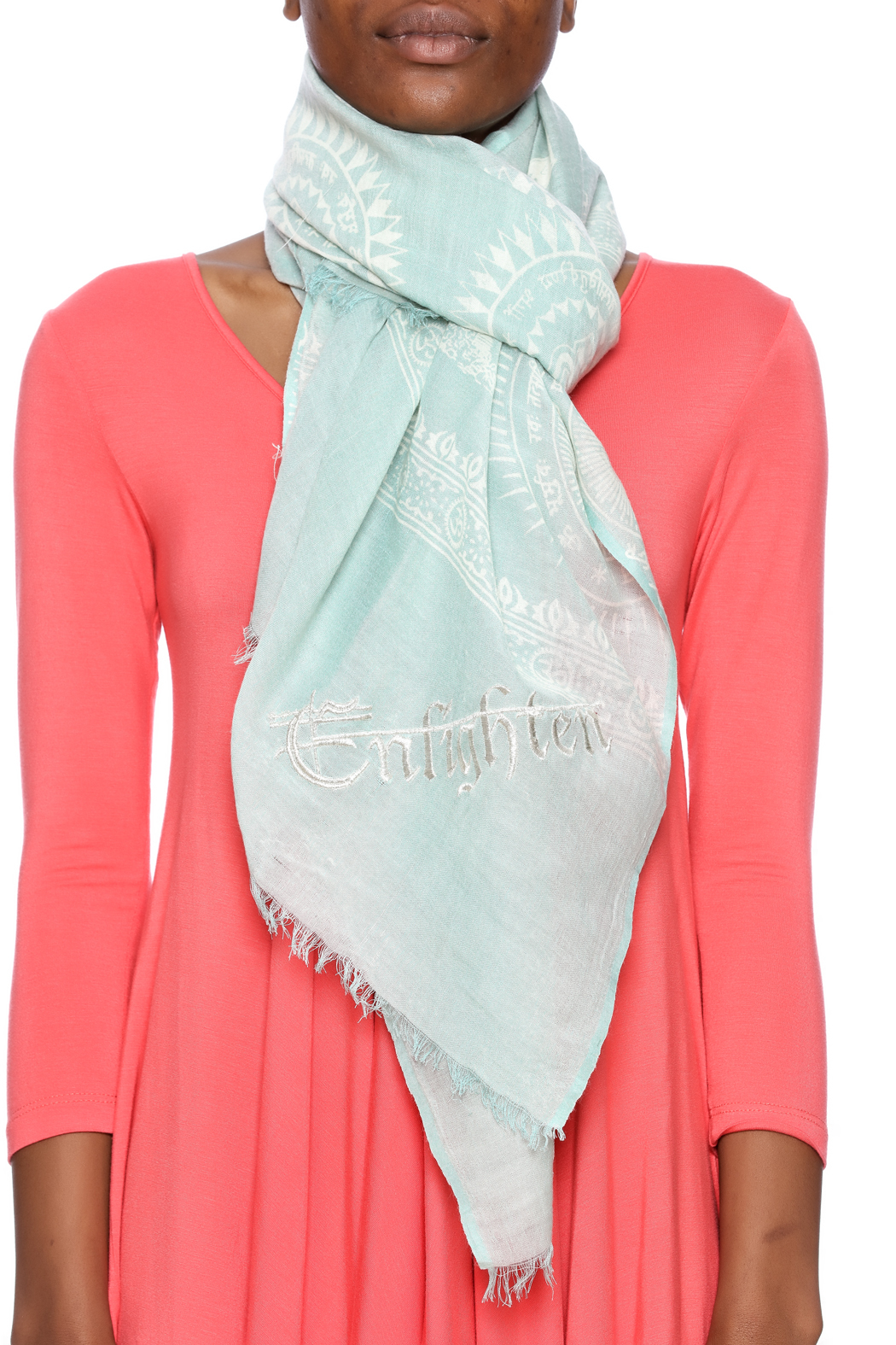 Violet Del Mar Enlighten Scarf - Back Cropped Image