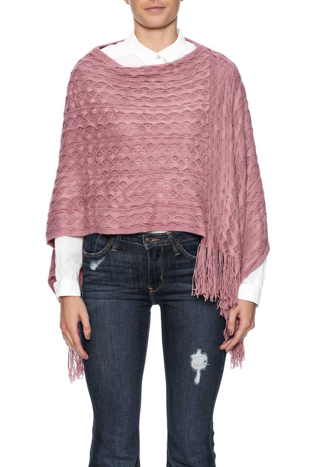 Violet Del Mar Woven Poncho - Side Cropped Image