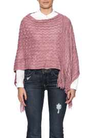 Violet Del Mar Woven Poncho - Side cropped