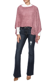 Violet Del Mar Woven Poncho - Front full body
