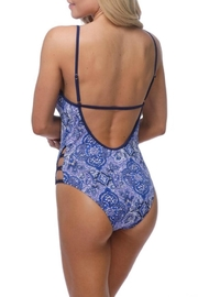 beach joy Violet Moroccan One-Piece - Front full body