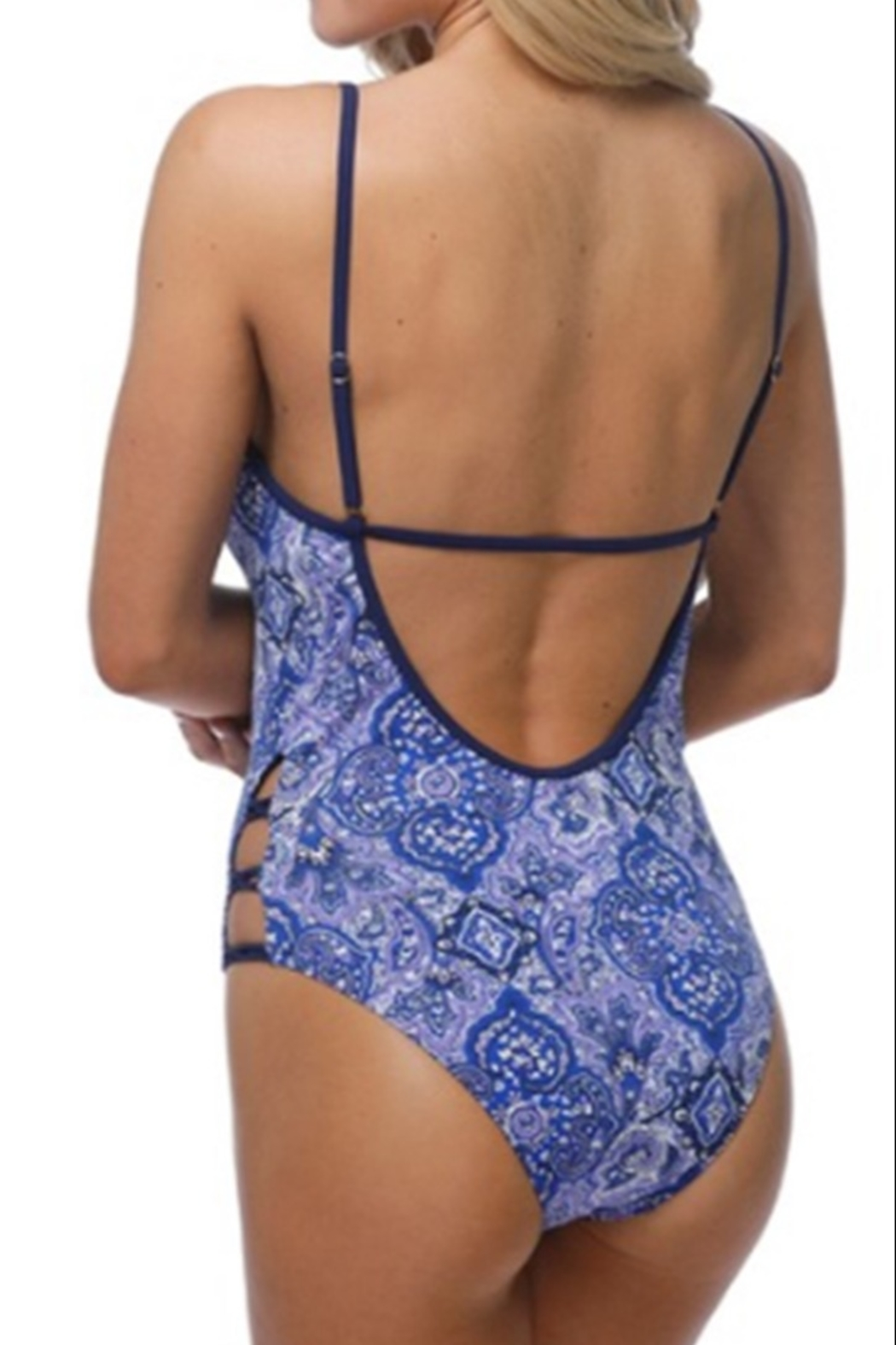 beach joy VIOLET MOROCCAN SWIMSUIT - Front Full Image