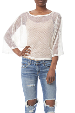 Violet Ruby Mesh Pull-Over Top - Product List Image