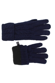 Violet & Virtue Cable Knit Gloves - Side cropped