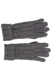 Violet & Virtue Cable Knit Gloves - Front cropped