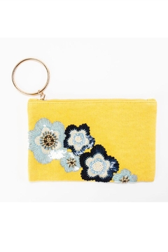 Shoptiques Product: Flower Embroidered Clutch