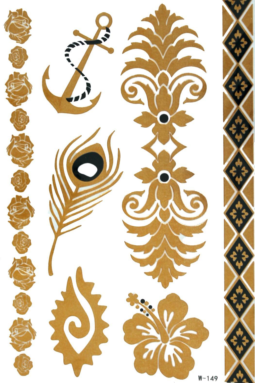 violet del  Gold Jewelry Tattoos - Main Image