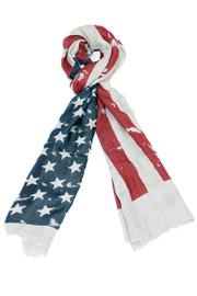 Violet Del Mar American Flag Scarf - Front cropped