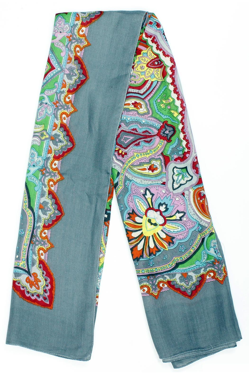 Violet Del Mar French-Vintage Paisley Scarf - Front Cropped Image