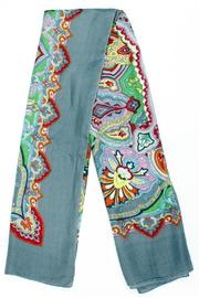 Violet Del Mar French-Vintage Paisley Scarf - Front cropped