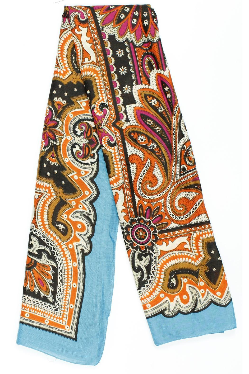 Violet Del Mar French-Vintage Paisley Scarf - Main Image