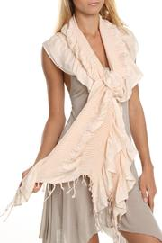 Violet Del Mar Bamboo Ruffle Scarf - Front cropped