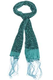 Violet Del Mar Beaded Leopard Green Scarf - Product Mini Image