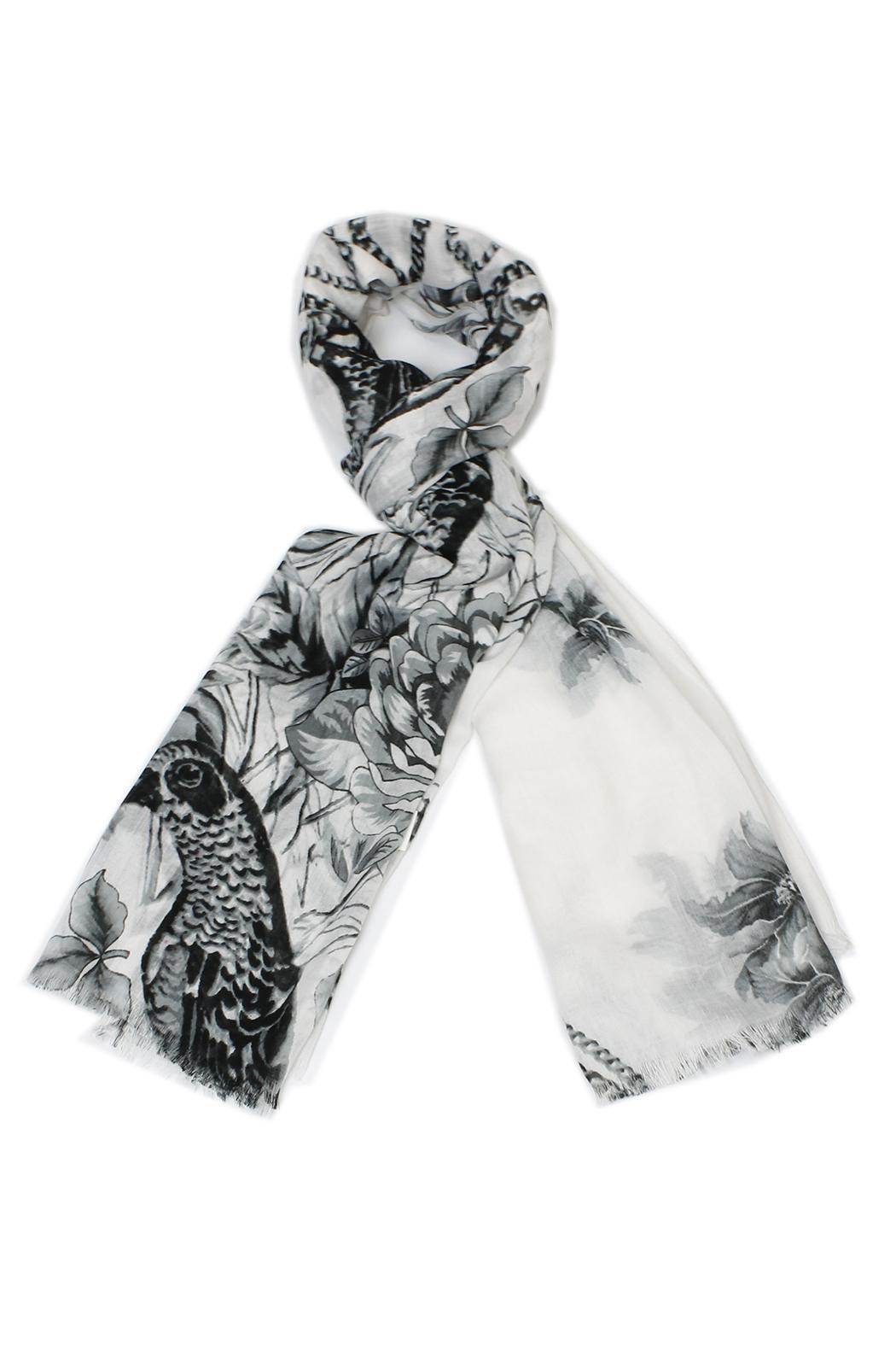 Violet Del Mar Bird Nature Scarf - Front Cropped Image