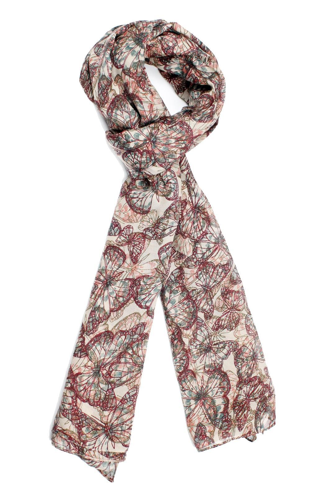 Violet Del Mar Butterfly Pink Scarf - Main Image