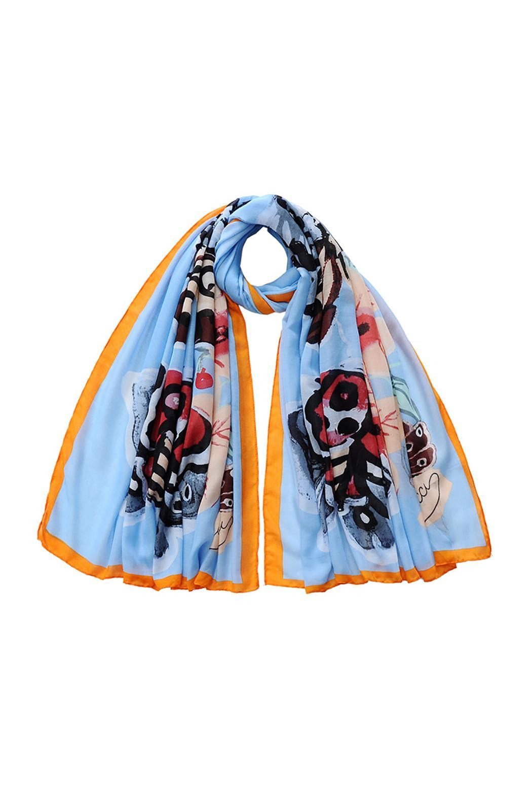 Violet Del Mar Butterfly Scarf - Front Cropped Image