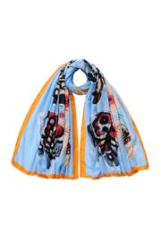 Violet Del Mar Butterfly Scarf - Front cropped