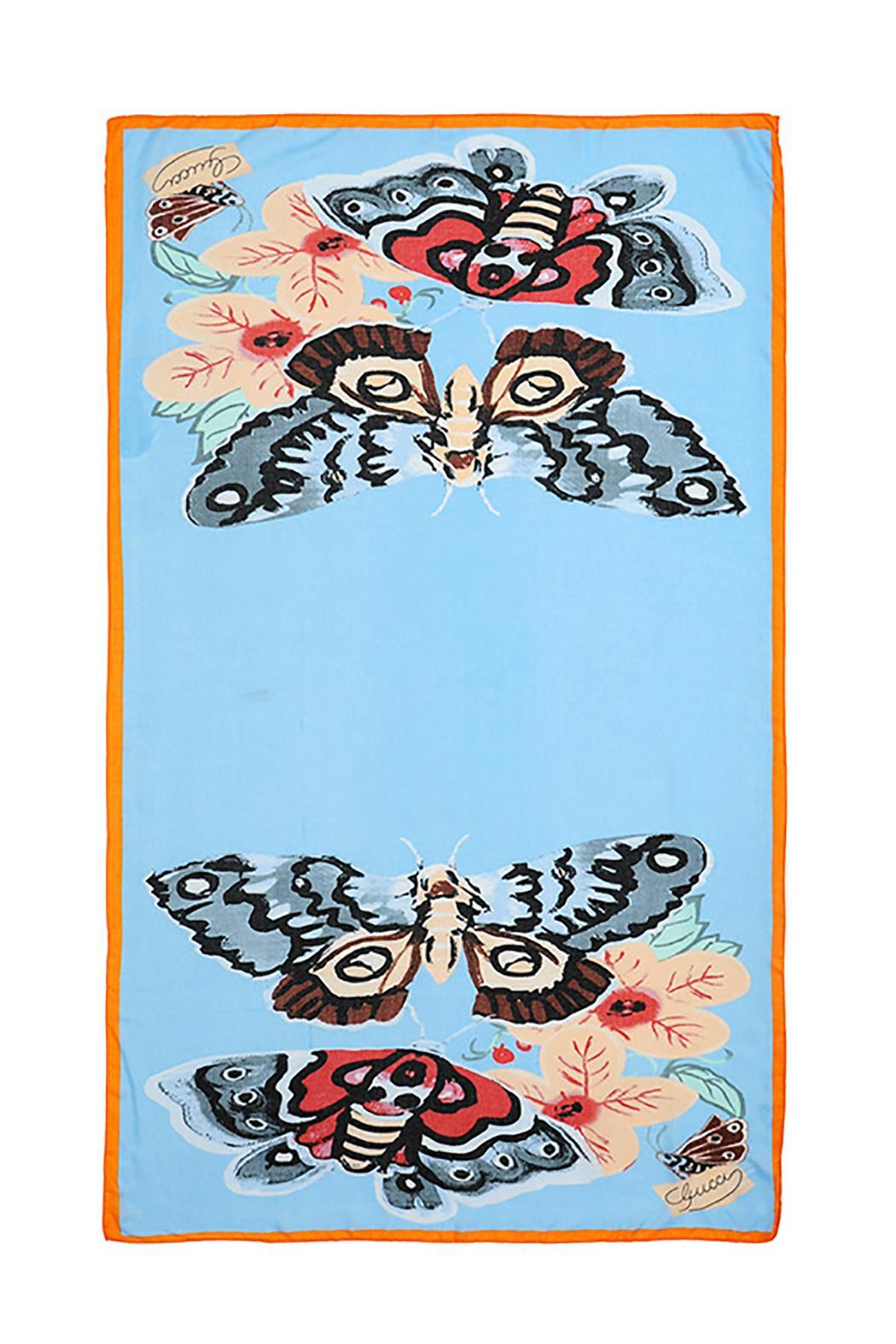 Violet Del Mar Butterfly Scarf - Front Full Image