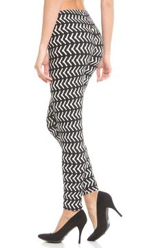 Violet Del Mar Bw Pixle-Print Leggings - Alternate List Image
