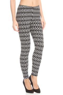 Violet Del Mar Bw Pixle-Print Leggings - Product List Image