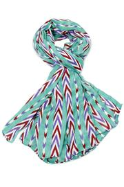 Violet Del Mar Candy Stripe Scarf - Front cropped