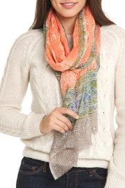 Violet Del Mar Cashmere Printed Scarf - Front cropped
