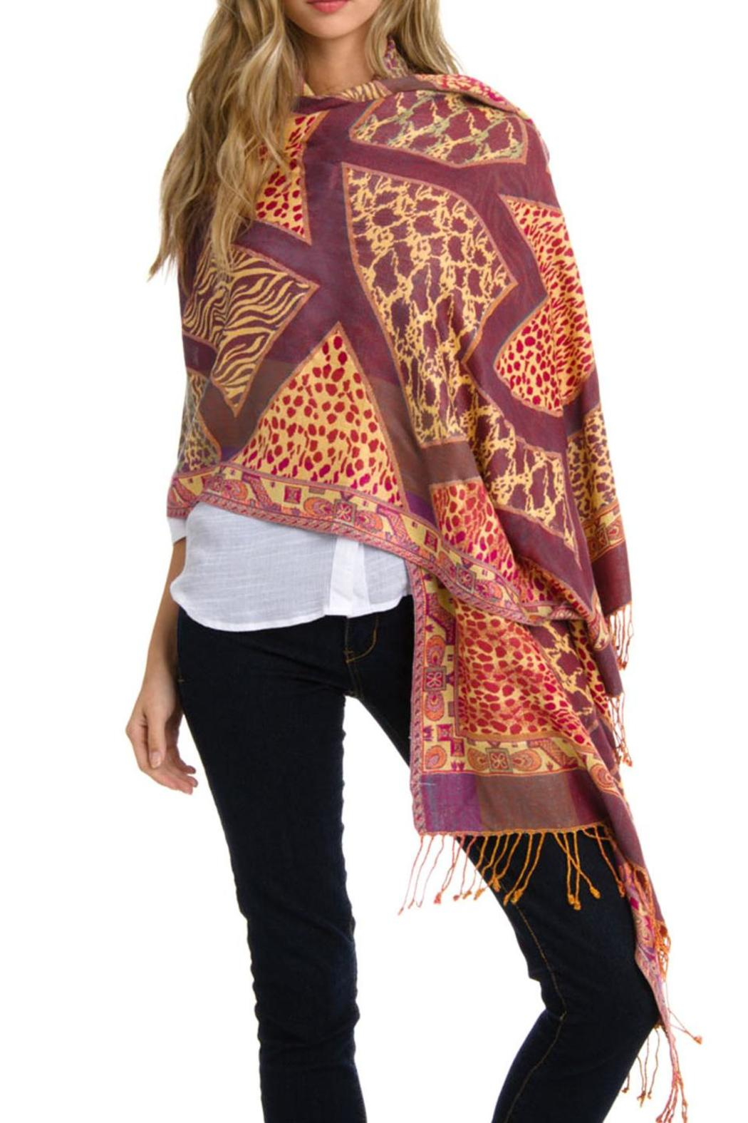 Violet Del Mar Cashmere Blend Wrap Shawl - Main Image