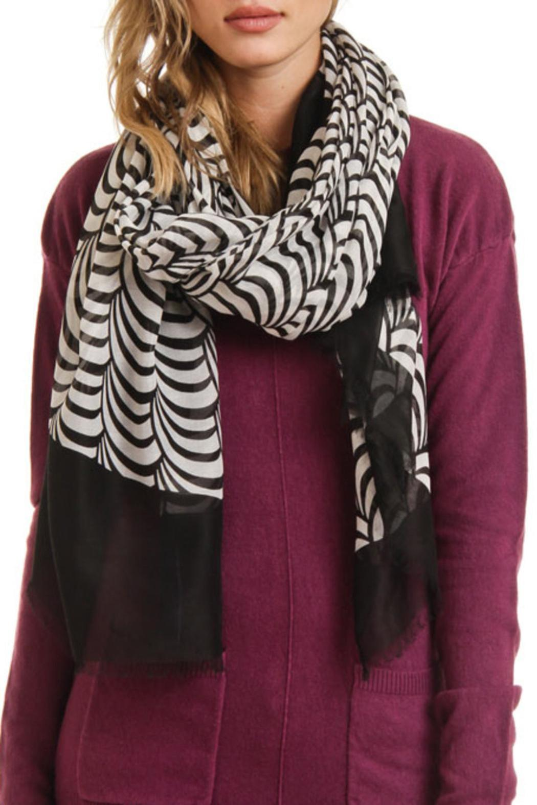 Violet Del Mar Circle Lightweight Scarf - Front Full Image