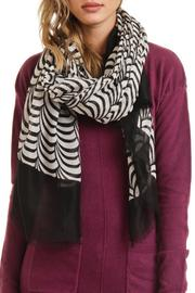 Violet Del Mar Circle Lightweight Scarf - Front full body