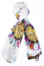 Violet Del Mar Colorful Daisy Scarf - Product Mini Image
