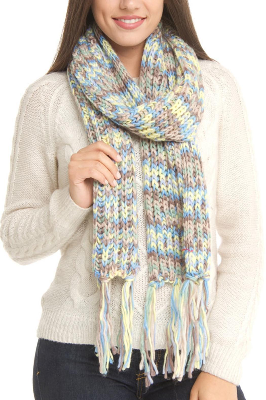 Violet Del Mar Colorful Knitted Scarf - Main Image