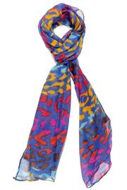 Violet Del Mar Colorful Leopard Scarf - Product Mini Image